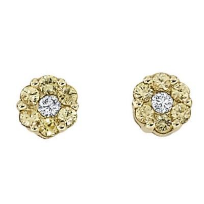 """""""Aria"""" Yellow Sapphire Earrings"""