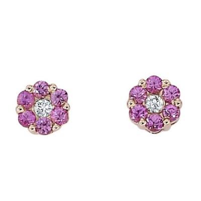 """Aria"" Pink Sapphire Earrings"