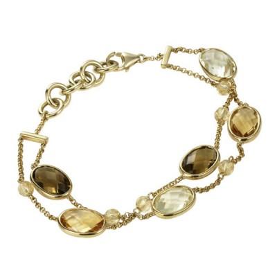"""""""Marisol"""" Citrine & Quartz Bracelet"""