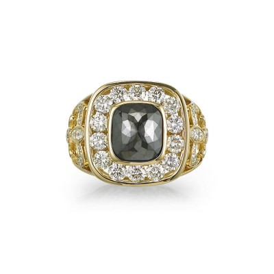 """Orion"" Black Diamond Ring"