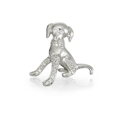 """Barkley"" Diamond Doggie Charm"