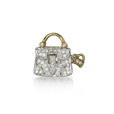 """Lucille"" Diamond Purse Charm"
