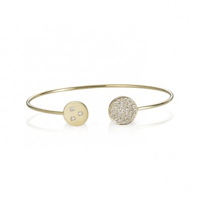 """Solar Eclipse"" Diamond Bangle"