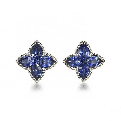 """Emilia Stars"" Sapphire Earrings"