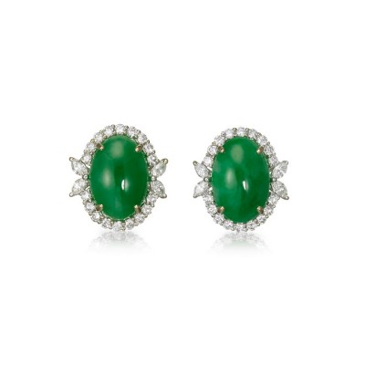 """Jeddina"" Jadeite Jade Earrings"