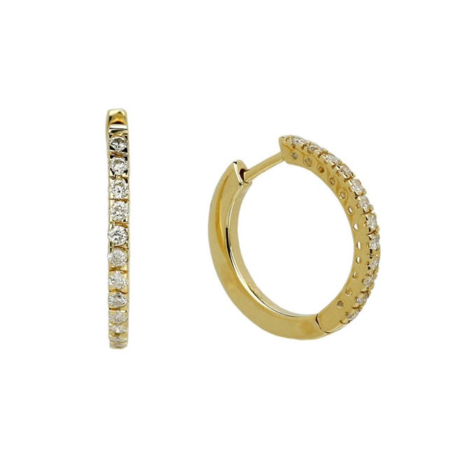 """Gaia"" Diamond Hoops"