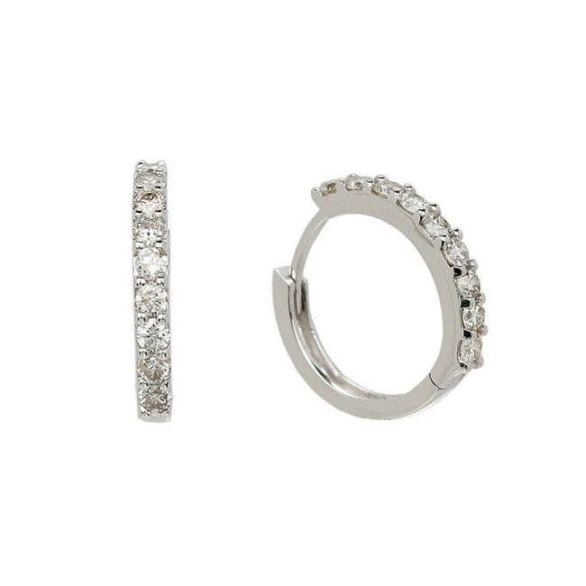 """Virginia Reel"" Diamond Hoop Earrings"