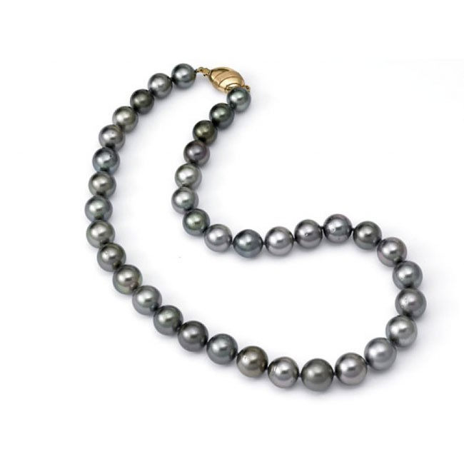 """Ursula"" Black Pearl Necklace"