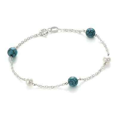 Turquoise & Pearl Bracelet