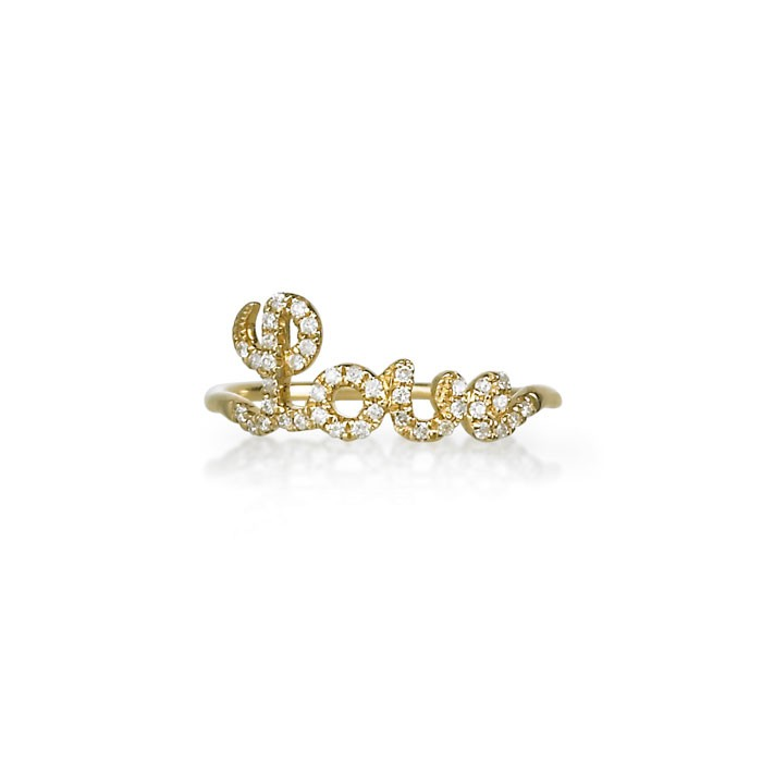 "Diamond ""Love"" Ring"