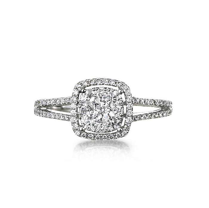 """Avanti"" Diamond Cluster Ring"