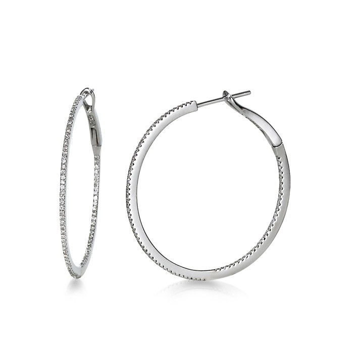 """Bella"" Diamond Hoops"