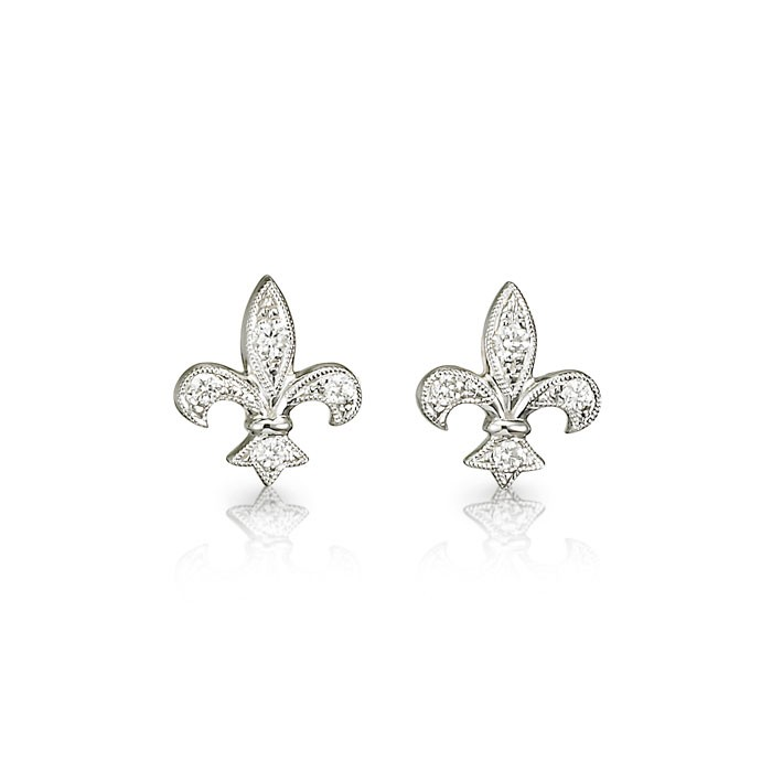 Fleur-de-Lis Diamond Earrings