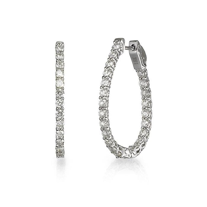 """Lucky Diamonds"" Hoop Earrings"