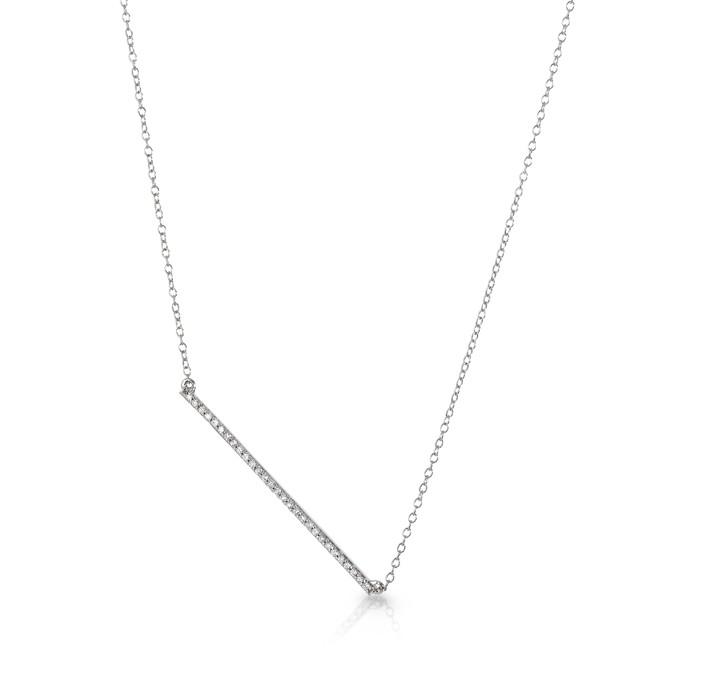 """The Trapeze"" Diamond Necklace"