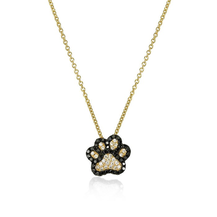 """Best Friend"" Diamond Dog Paw Necklace"