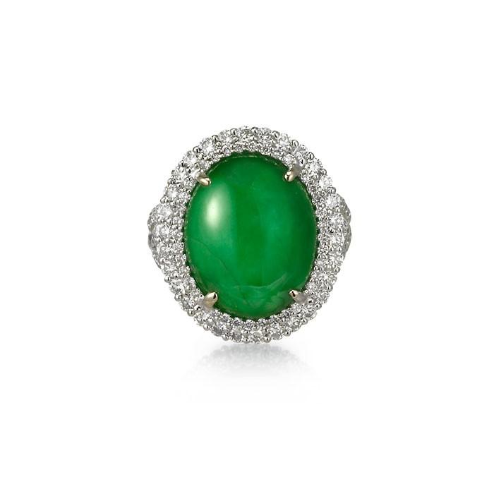 """Yasmina"" Jadeite Jade Ring"