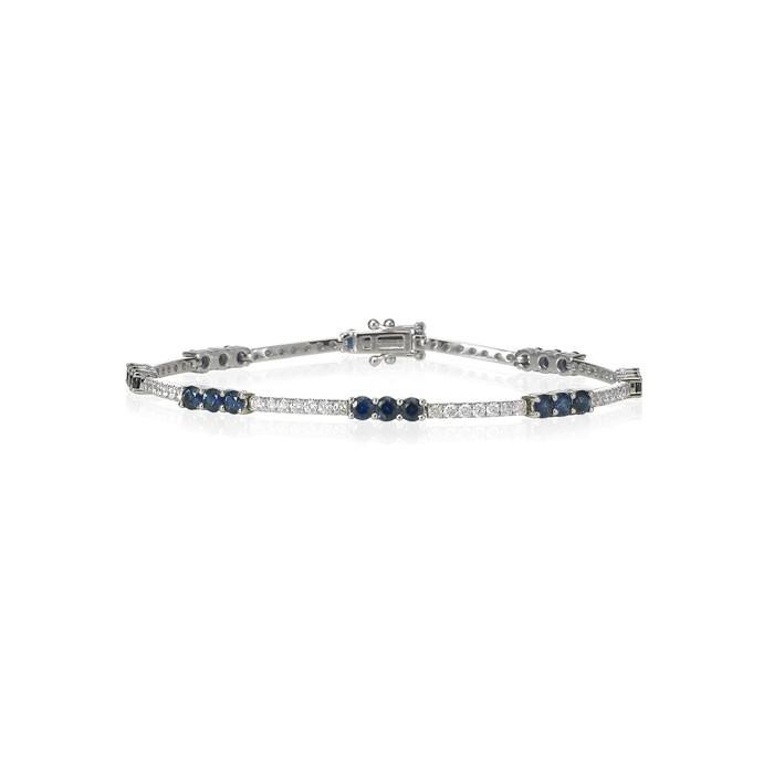 """Sapphire Bonbons"" Diamond Necklace"