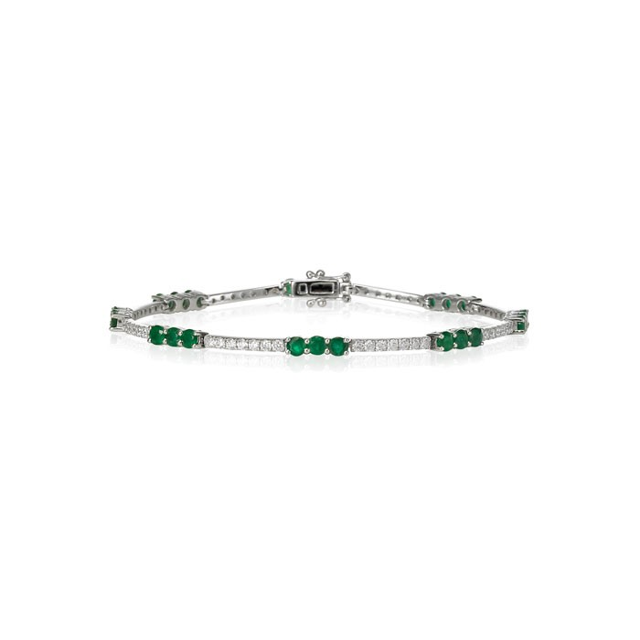 """Emerald Bonbons"" Diamond Bracelet"