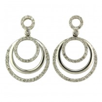 """Amusante"" Diamond Hoop Earrings"