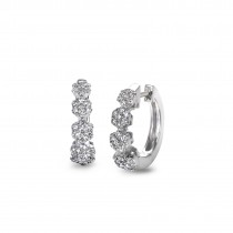 """Savoir Faire"" Diamond Hoop Earrings"