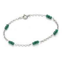 Emerald & Silver Bracelet