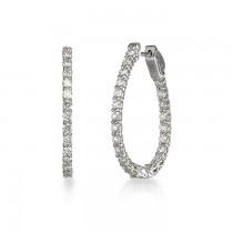 """Lucky Diamonds"" Hoop Earrings"