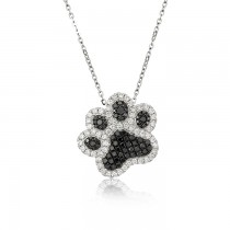 """Best Friend"" Diamond Dog Paw Pendant"