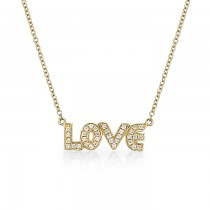 """Love"" Diamond Necklace"