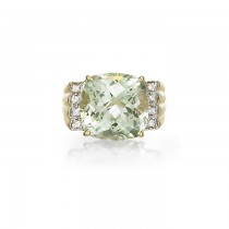 """Adagio"" Green Amethyst Ring"