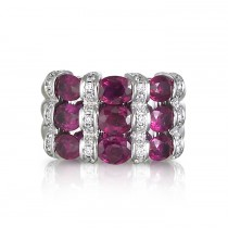 """Fiamma Rossa"" Ruby & Diamond Ring"