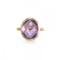"""Nabiu"" Amethyst Right Hand Ring"