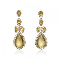 """Babylon"" Citrine & Diamond Earrings"