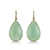 """Mermaid Tears"" Chalcedony Earrings"