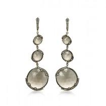 """Nightfall"" Diamond & Quartz Earrings"
