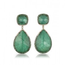 """La Poire Verte"" Emerald Earrings"