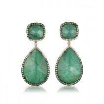 """""""La Poire Verte"""" Emerald Earrings"""
