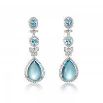 """Mandalay"" Topaz & Diamond Earrings"