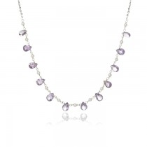 """Sydney"" Amethyst & Pearl Necklace"